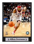 Encore Select 512-40 NBA Philadelphia 76ers Allen Iverson Logo Plaque, 23cm by 30cm