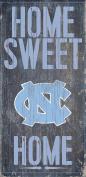 North Carolina Tar Heels Wood Sign - Home Sweet Home 6x12