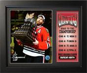NHL Chicago Blackhawks 143-81 2015 World Champions Ducan Keith MVP Road to the Championship Plaque, Black