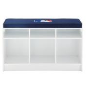 MLB 3-Cube Bench Storage Organiser, One Size, White