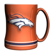 NFL Denver Broncos Sculpted Relief Mug Alternate Colour, 410ml, Orange
