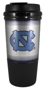 GameDay Novelty NCAA North Carolina Tarheels Insulated Platinum Gripper Travel Tumbler with No Spill Flip Lid, 470ml