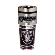 Oakland Raiders 470ml Stainless Steel Travel Tumbler/Mug