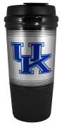 GameDay Novelty NCAA Kentucky Wildcats Insulated Platinum Gripper Travel Tumbler with No Spill Flip Lid, 470ml
