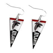 Sports Team Atlanta Falcons Pennant Dangle Charm Earring Set