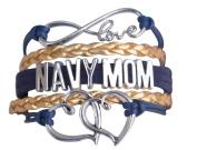 Navy Mom Jewellery, Navy Mom Bracelet, Proud Navy Mom Charm Bracelet - Makes Perfect Mom Gifts