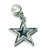 DALLAS COWBOYS STAR OFFICIALLY licenced CHARM WITH CONNECTOR