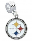 PITTSBURGH STEELERS OFFICIALLY licenced CHARM WITH CONNECTOR