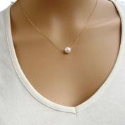 Usstore Women Lady Gold Necklace Simple Imitate Pearl Bib Choker Statement Collar Pendants