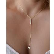 Usstore Women Lady Fashion Bohemia Simple Little Triangular Tassels Necklaces Pendant Chian Bar Alloy Sweater Chain