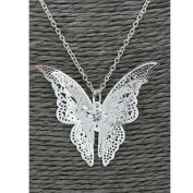 Usstore Women Pendant Lovely Silver Butterfly Pendant Chain Necklace Alloy Jewellery Gift