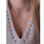 Usstore Women Simple Little Circle Tassels Chian Bar Bohemia Necklace Gold Pendants Gift