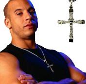 Usstore 1PC Men Furious Dominic Torettos Cross Pendant Necklace Alloy Gift