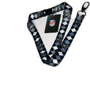 NFL Oakland Raiders Argyle Lanyard, Black, One Size