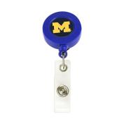 NCAA Michigan Wolverines Team Logo Office Student Retractable Badge Reel Id Ticket Clip