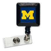 Michigan Wolverines Official NCAA 2.5cm x 2.5cm Retractable Badge Holder Keychain