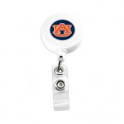 Auburn Tigers Sports Team Logo Retractable Badge Reel Id Ticket Clip