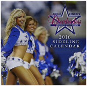 Turner Dallas Cowboy Cheerleaders 2016 Wall Calendar, September 2015 - December 2016, 30cm x 30cm