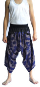 Siam Trendy Men's Japanese Style Pants One Size Blue two tone waist black
