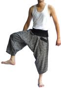 Siam Trendy Men's Japanese Style Pants One Size Black arrow design