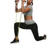 eshion Resistance Band Set with Door Anchor, Ankle Strap, Exercise Chart, and Resistance Band Carrying Case