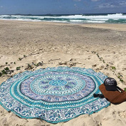 XUANOU Beach Cover Mat Round Shape Yoga Mat Tablecloth For Camping