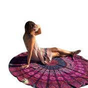 XUANOU Bohemian Round Beach Throw Roundie Mandala Tapestry Towel Home Decoration Yoga Mat