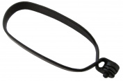 Hackle Pliers Black, Non-Skid for Fly Tying
