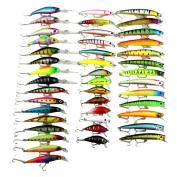 Kemilove 43pc Fishing Lure Set Mixed 6 Models Fishing Tackle Mix Fishing Bait