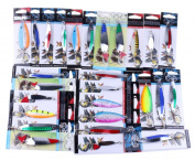 Kemilove 1PC Fishing Lures Metal Spinner Baits Crank bait Assorted Fish Tackle Hooks ,Random Colour