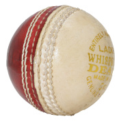 Upfront Opttiuuq Whispering Death Leather Cricket Ball. 2 Piece half white half red. Alum tanned leather hand made. LADIES 150ml