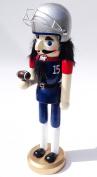 Unique Themed Decorative Holiday Season Wooden Christmas Nutcracker - Football Player