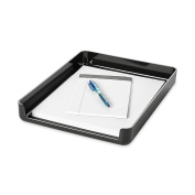 Rolodex Image Series Black Front Load Stacking Desk Tray