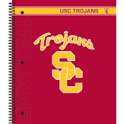 C.R. Gibson 5-Subject Spiral Notebook, College Ruled, Liscensed By NCAA, Measures 23cm x 28cm - USC Trojans