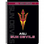 C.R. Gibson Personal Spiral Notebook, College Ruled, Licenced By NCAA, Measures 13cm x 18cm - Arizona State Sun Devils