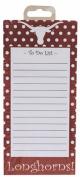 NCAA Texas Longhorns  stationery  Magnetic Polka Dot Design Note Pad
