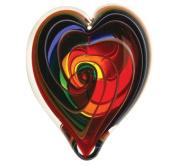 Glass Eye Studio Hand Blown Hearts of Fire Bohemian Glass Paperweight