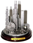 Chicago Paperweight, Chicago Skyline Pewter-Look Paperweight - large size