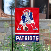 New England Patriots Retro Pat Patriot Double Sided Garden Flag
