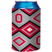 NCAA Ohio State Buckeyes Aztec Design Neoprene Can Coolie, One Size,Grey