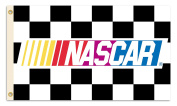 NASCAR Chequered 3-by-1.5m Flag with Grommets