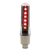 VANKER 1Pc Red Waterproof LED Letter Automatically Flash Light Car Bike Wheel Tyre Valve