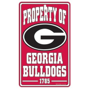 NCAA University of Georgia 86888012 Champ/Property of Sign, 18cm x 30cm