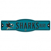 NHL San Jose Sharks 27864010 Street/Zone Sign, 11cm x 43cm