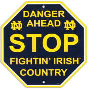 University of Notre Dame Stop Sign Wall Sign 30cm x 30cm