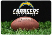 NFL San Diego Chargers Classic Football Pet Bowl Mat, Large