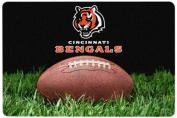 NFL Cincinnati Bengals Classic Football Pet Bowl Mat, Large