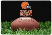 NFL Cleveland Browns Classic Football Pet Bowl Mat, Large
