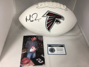 Matt Ryan Autographed Signed Atlanta Falcons NFL Logo Football Certified With COA & Hologram W/Photo From Signing