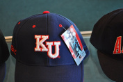 University of Kansas Fitted Baseball Hat By Colosseum Size 7 1/4